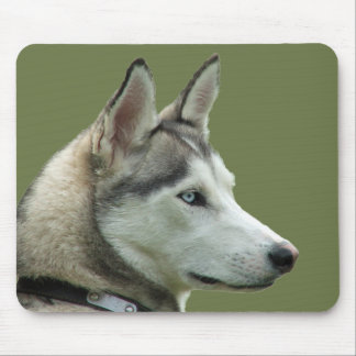 Husky Siberian dog beautiful photo mousepad