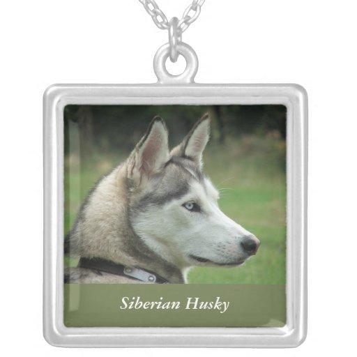Husky Siberian dog beautiful photo necklace, gift