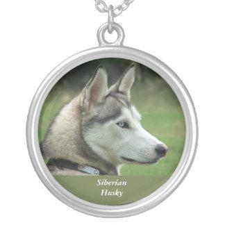 Husky Siberian dog beautiful photo necklace, gift Round Pendant Necklace