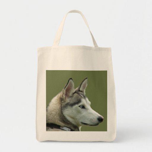 Husky Siberian dog beautiful photo tote bag