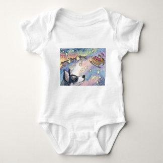 Husky Sleigh Dogs Baby Bodysuit
