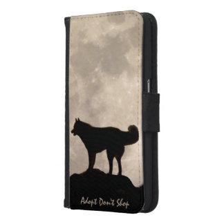 Husky Smartphone Wallet Wolf Dog Mobile Cases