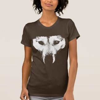 Husky T-Shirt Women's Husky Wolf Art Tee Dog Shirt