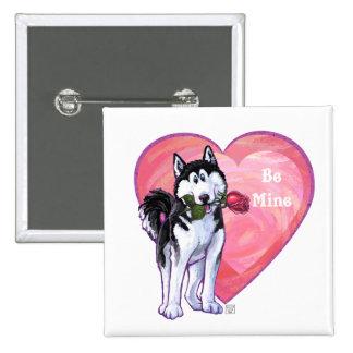 Husky Valentine's Day Pins
