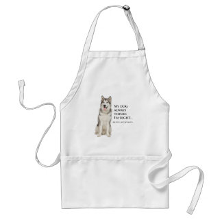 Husky vs Wife Barbeque/Grooming Apron