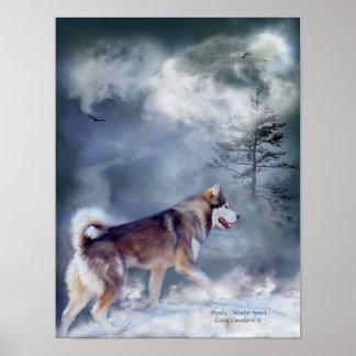 Husky-Winter Spirit Art Poster/Print Poster