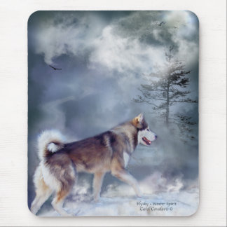 Husky - Winter Spirit Mousepad