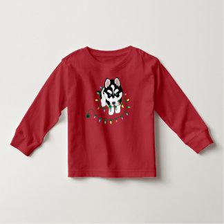 Husky with Christmas Sweater