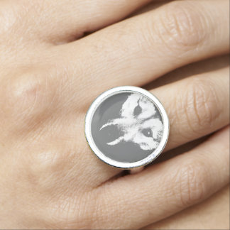 Husky Wolf Ring Wolf Pup Jewelry Wild Dog Rings