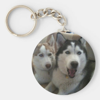 huskys basic round button keychain