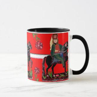 Hussar on a Black Horse -Hungarian Style Folk Art Mug