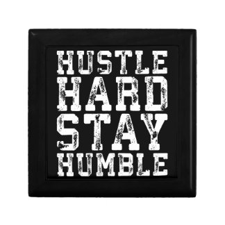 Hustle Hard, Stay Humble - Inspirational Words Gift Box