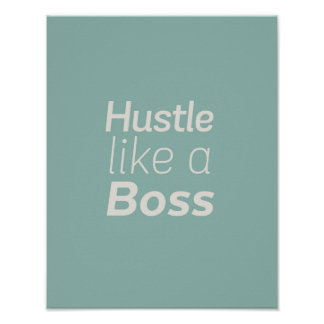 Hustle Like a Boss Poster