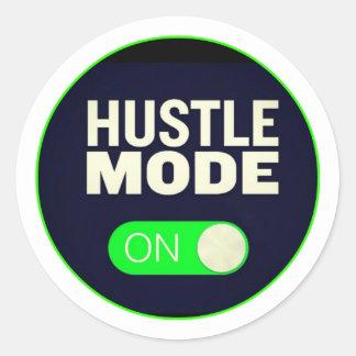 Hustle Mode On Classic Round Sticker