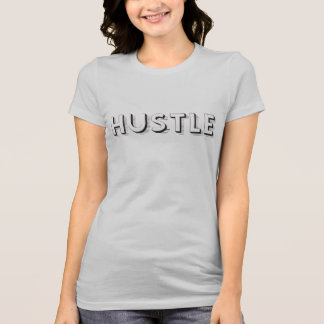 Hustle Modern Typography T-Shirt