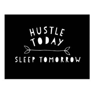 Hustle Today Motivational Postcard