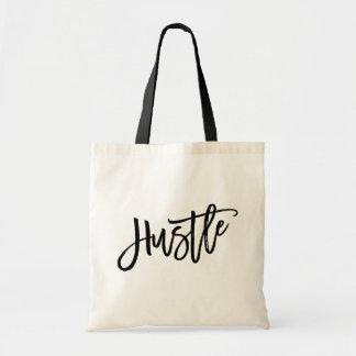 Hustle Trendy Lettering Tote Bag