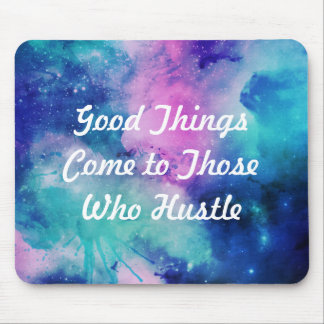 Hustle watercolor star galaxy mouse pad