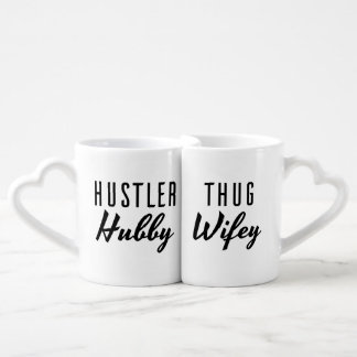Hustler Hubby and Thug Wifey Wedding Coffee Mug Set