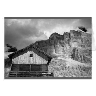 Hut in Dolomite Mountains, Italy Card
