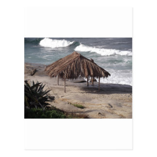 Hut On the Beach Postcard