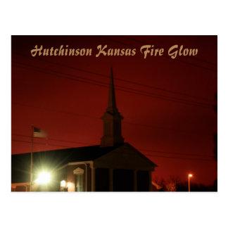 Hutchinson Kansas Fire Glow Post Card