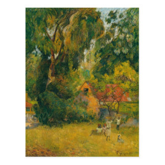 Huts Under the Trees by Paul Gauguin Postcard