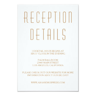 Huxley Modern Wedding Reception card
