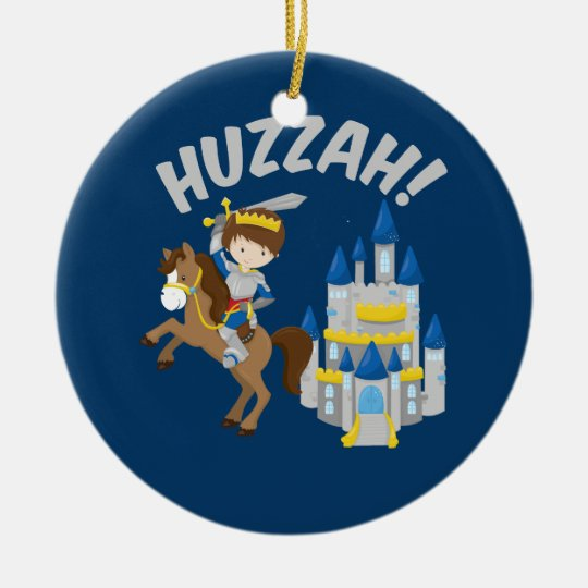 Huzzah Renaissance Faire Knight Ceramic Ornament