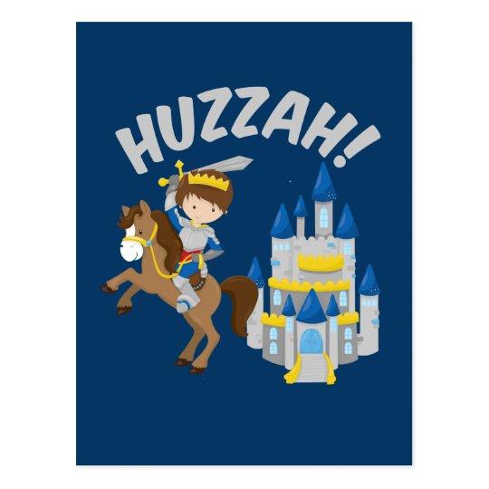 Huzzah Renaissance Faire Knight Postcard