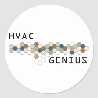 HVAC Genius Round Sticker