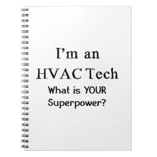 hvac tech notebook