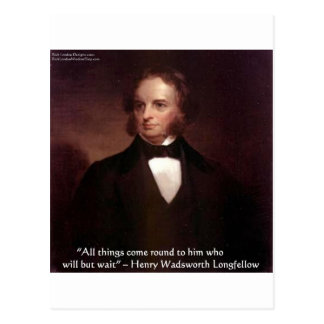 "HW Longfellow ""All Comes Around"" Wisdom Quote Gift Postcard"