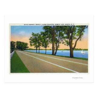 Hwy Route 5 View of Seneca Lake Postcard