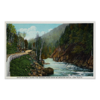 Hwy View of Ausable River near Wilmington Poster