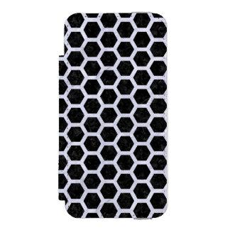 HXG2 BK-WH MARBLE INCIPIO WATSON™ iPhone 5 WALLET CASE