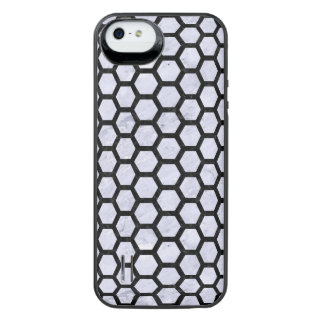 HXG2 BK-WH MARBLE (R) iPhone SE/5/5s BATTERY CASE