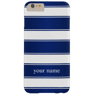 Hyacinth Blue Striped Leather iPhone 6 Plus Case Barely There iPhone 6 Plus Case