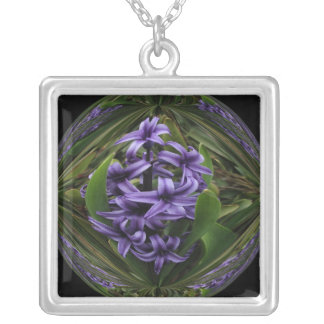 Hyacinth Candy Silver Plated Necklace