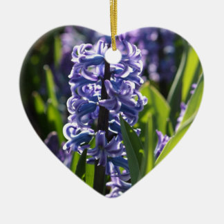 Hyacinth Ceramic Heart Ornament