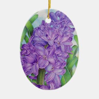 Hyacinth Ceramic Oval Ornament