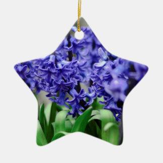 Hyacinth Ceramic Star Ornament
