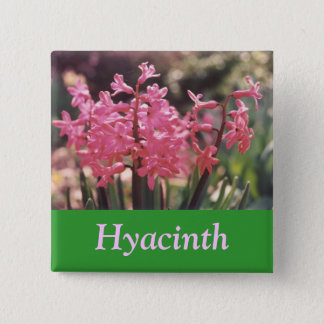 Hyacinth Cluster 2 Inch Square Button