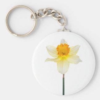 Hyacinth flower basic round button keychain