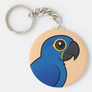 Hyacinth Macaw Basic Round Button Keychain