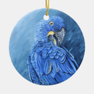 Hyacinth Macaw. Blue macaw just for you Round Ceramic Ornament