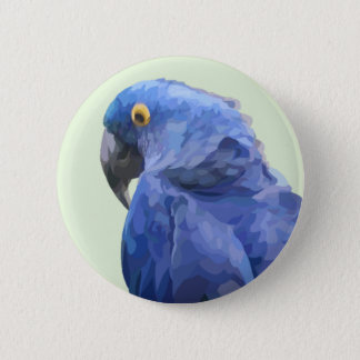 Hyacinth Macaw Button