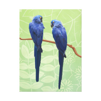 Hyacinth Macaw Duo Wrapped Canvas Wall Art