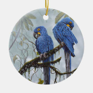 Hyacinth Macaw just for your special gifts Round Ceramic Ornament