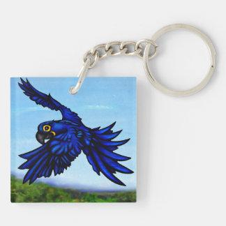 Hyacinth Macaw Keychain